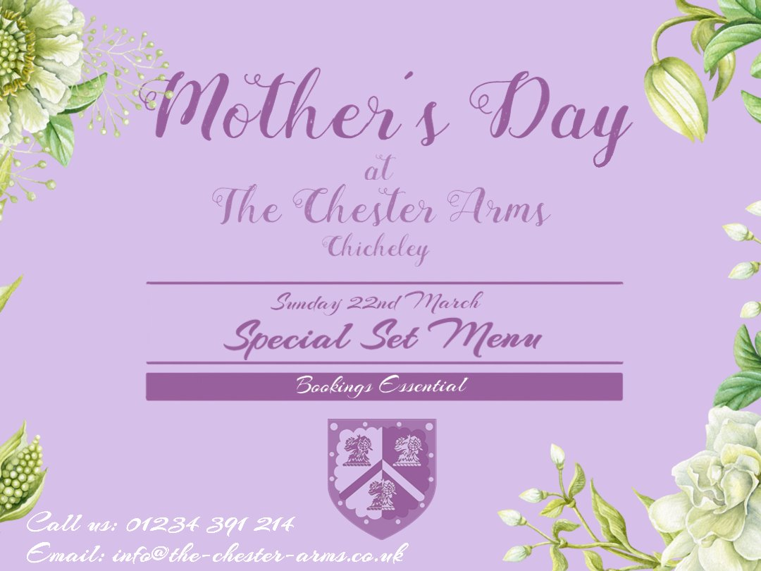 Mother's Day at The Chester Arms